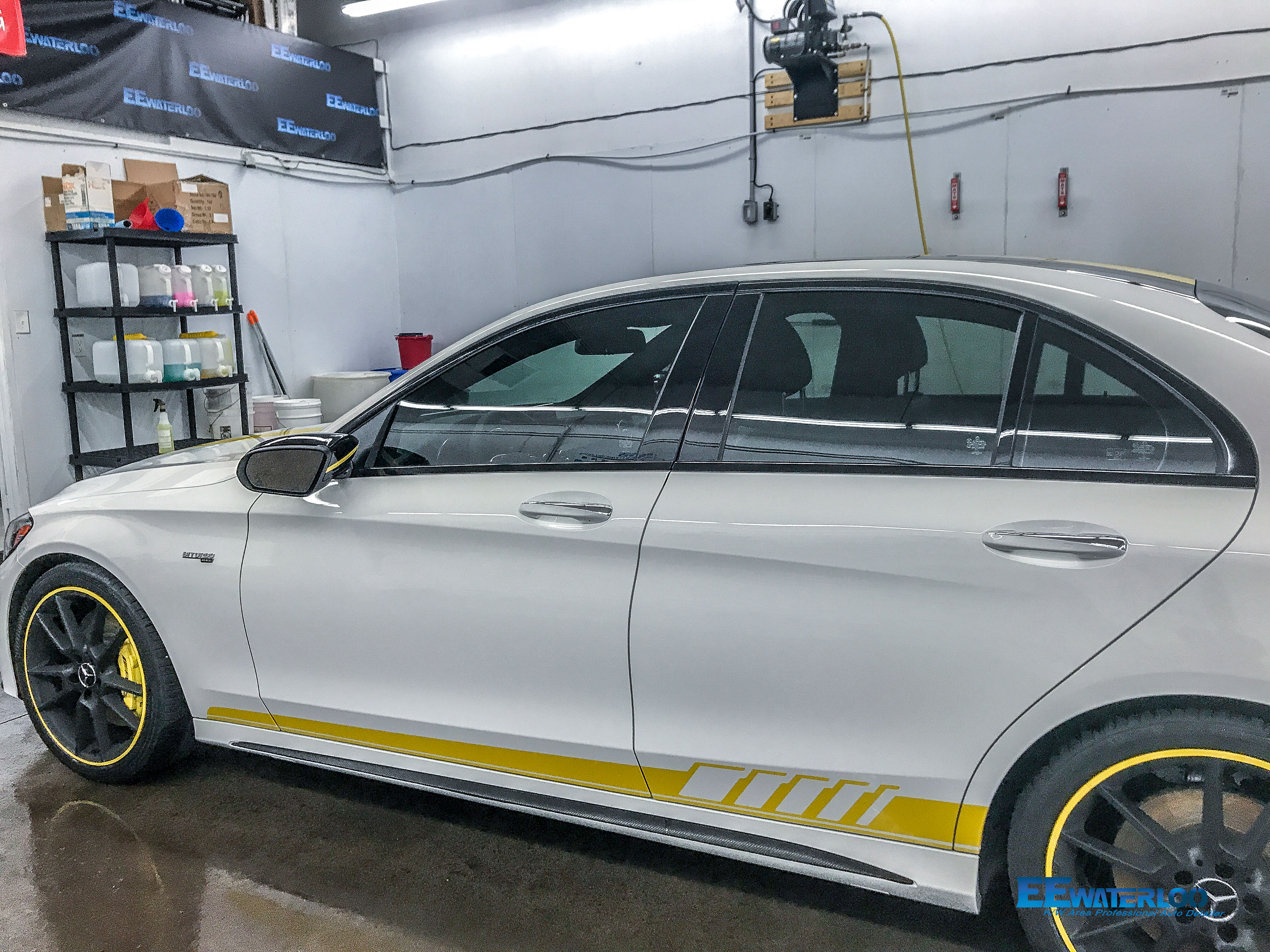 Project Ceramic Coating Mercedes C43 Coated With